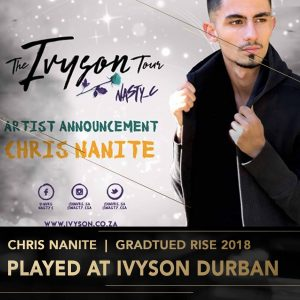 Chris Nanite Rise Academy DJ Perform Music Production lessons Johannesburg Durban Cape Town stage