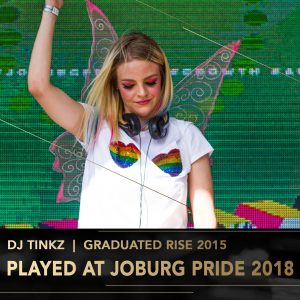 Tinkz Rise Academy DJ Perform Music Production lessons Johannesburg Durban Cape Town stage