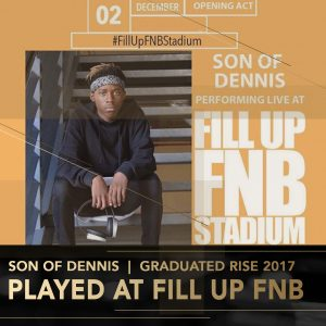 Son of Dennis Rise Academy DJ Perform Music Production lessons Johannesburg Durban Cape Town stage