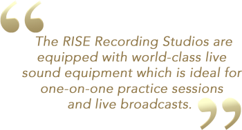 The RISE Recording Studios are equipped with world-class live (1)